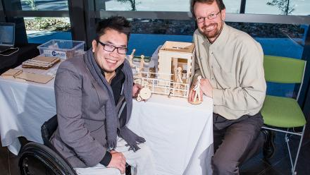 Huy Nguyen, CEO of Enable Development and Jeremy Smith, College of Engineering and Computer Science.