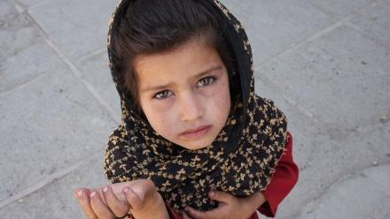 Photo of begging child