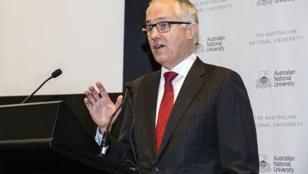 Federal Minister for Communications Malcolm Turnbull at the 2014 China Update.
