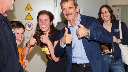 Siobhan Tobin and Chris Hadfield