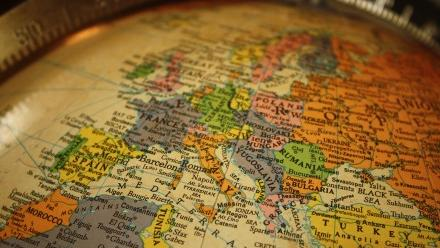 Photo of antique globe of the world