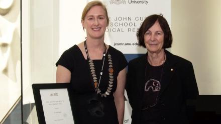 Julia Ellyard with Judith Whitworth.