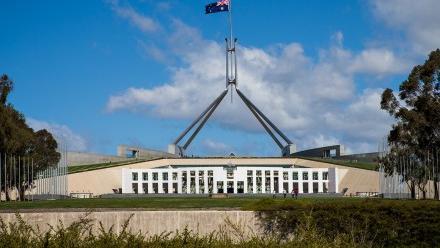 Photo of Australia's parliament house