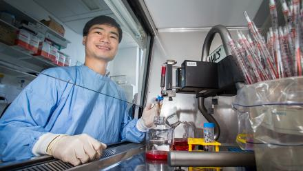 Dr Phuong Tran at the ANU Research School of Biology.