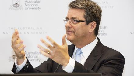 WTO Ambassador Roberto Azevêdo during his speech at ANU.