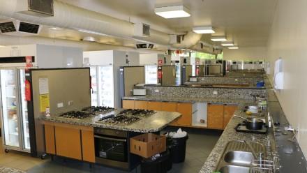 Main kitchen at Fenner Hall