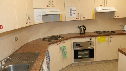Shared kitchen at Toad Hall