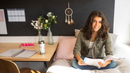 ANU Student in ANU accommodation
