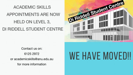 Academic Skills is moving to Di Riddell on April 8th