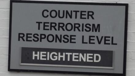 Counter terrorism response level hightened