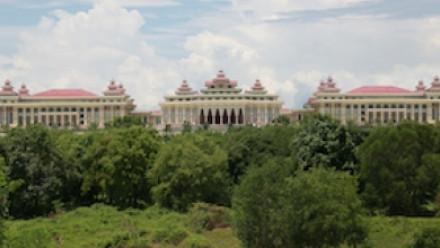 Three Myanmar buildings