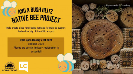 ANU x Bush Blitz workshop will take place from 2pm-4pm on January 21st 2021.