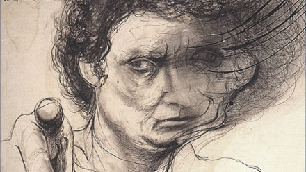 Front cover of book - 'Brett Whiteley: Art, Life and the other thing'.