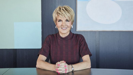 The Hon Julie Bishop, Chancellor.