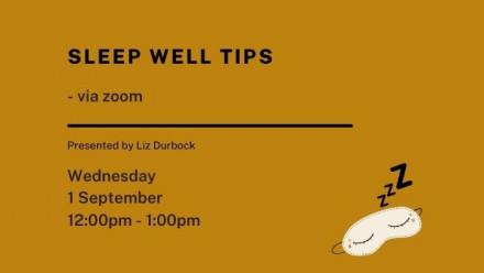 Sleep Well Tips event details
