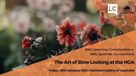 Promotional poster for 'The Art of Slow Looking at the NGA' January 29th 2021