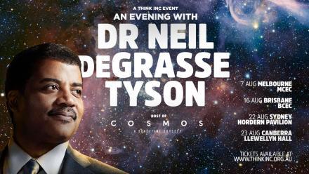Poster advertising Neil DeGrasse Tyson's Australian tour