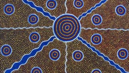 Aboriginal art image by esther1721 via Pixabay, Pixabay licence