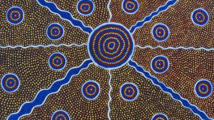 Aboriginal art image by esther1721 via Pixabay, Pixabay licence