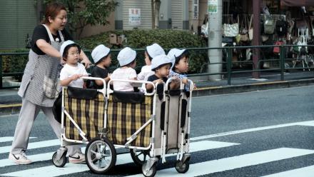 Babies in a trolley