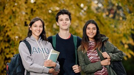 Happy students at ANU