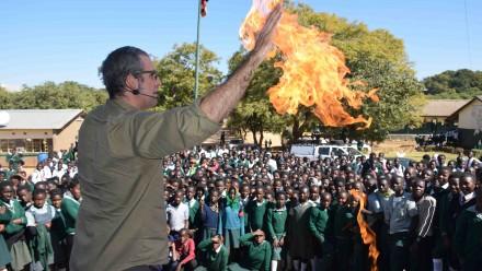 Dr Graham Walker flame hands.