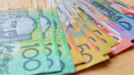 Australian money close-up