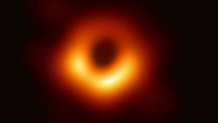 First Image of the 'shadow' of a Black Hole (Credit:  Event Horizon Telescope collaboration et al.)