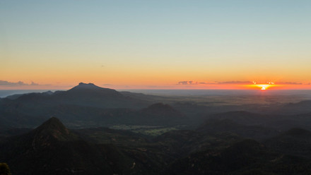 Image of sunset over the mountains