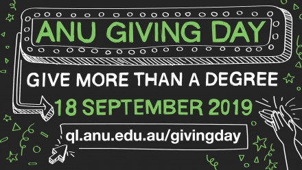 ANU Giving Day on Wednesday 18 September