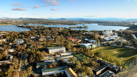 aerial photo of Canberra