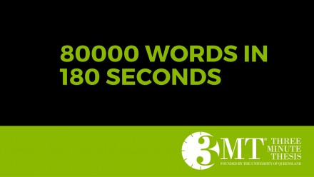 3MT: 80,000 words in 180 seconds