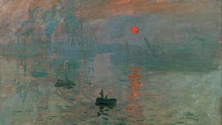 Image: Claude Monet Impression, sunrise [Impression, soleil levant] 1872 , oil on canvas. Gift of Eugène and Victorine Donop de Monchy 1940, Musée Marmottan Monet, Paris