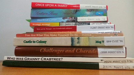 Selection of family history books in the National Library of Australia's collection (Barnwell, 2019)