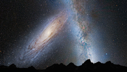 Milky Way and Andromeda, NASA