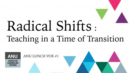 ANU Centre for Learning & Teaching. ANU Lunch Vox #1. Radical Shifts: Teaching in a Time of Transition.