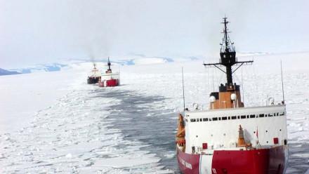 CG Icebreakers on escort duty