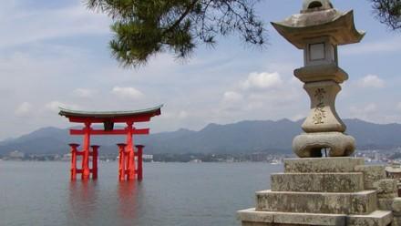 Japanese Shinto Shrine, Island of Miyajima, Japan