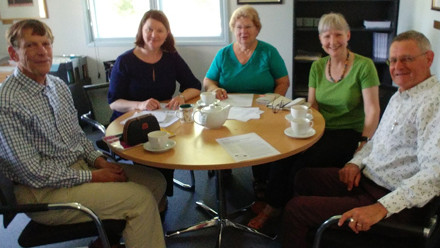 Trade in Services project committee: Paul Gretton, Annmarie Elijah, Hazel Moir, Anne McNaughton and Bruce Wilson