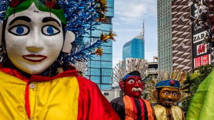Street parade in Jakarta