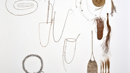 IMAGE: Kay Lawrence, What is a basket? Line Drawing (detail), 2017, various fibres, dims variable.  Image courtesy of the artist.