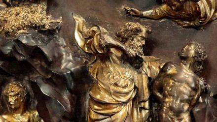 Image: Lorenzo Ghiberti, The Sacrifice of Isaac (detail), 1401. Museo Nazionale del Bargello, Florence