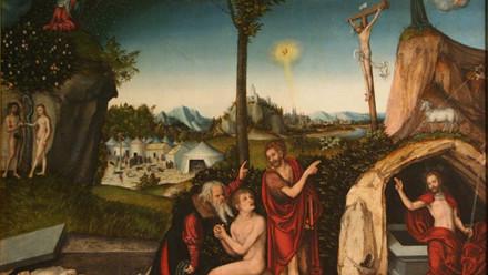Lucas_Cranach d.Ä. Sündenfall und Erlösung (Národní galerie v Praze)