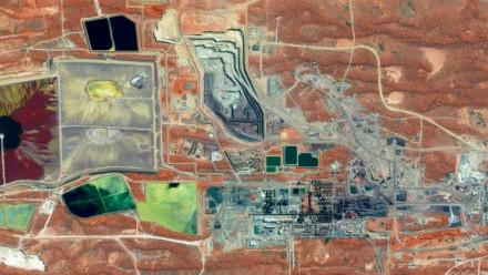Olympic Dam Uranium Mine in South Australia.
