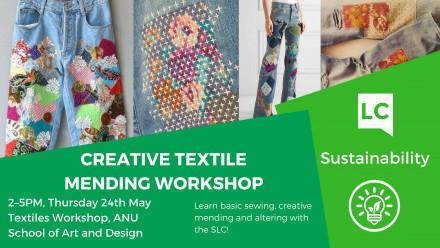Creative textile mending workshop
