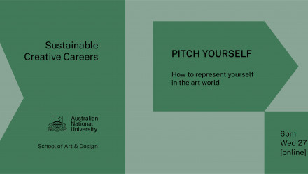 Sustainable Creative Careers: Pitch yourself! banner