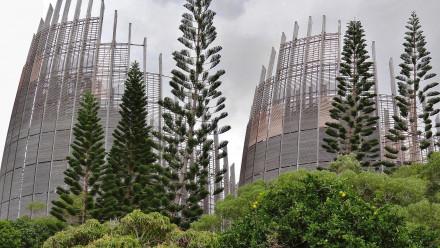 The Tjibaou Cultural Centre in Noumea New Caledonia