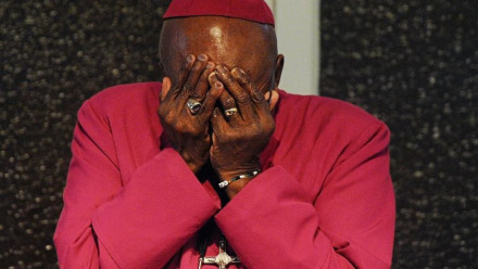 Desmond Tutu at South Africa's Truth and Reconciliation Commission
