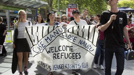 'Welcome refugees' protesters