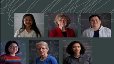 Women of Mathematics - photograph of women mathematician presenters at the exhibit